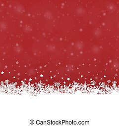 snow flakes background - white snow flakes on bottom side...