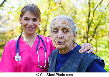 Healty senior lady - Picture of a senior woman with her...
