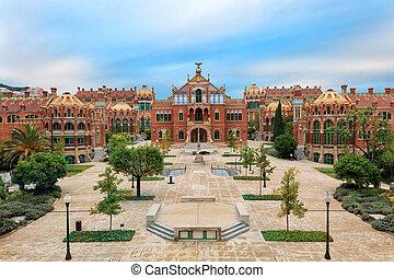 Landmarks of Barcelona - Hospital de la Santa Creu i Sant...