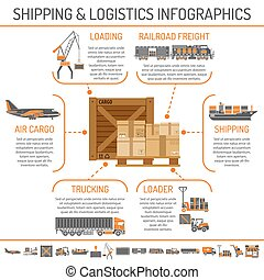 Shipping and logistics infographics - Shipping and logistics...