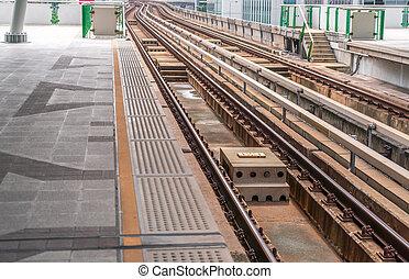 Electrical railway train station .