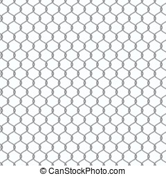 Chain-link fencing pattern - Metal chain-link fencing....