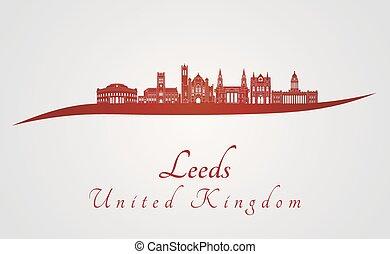 Leeds V2 skyline in red