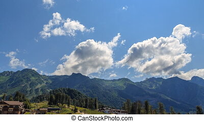 Clouds over the Rosa Khutor Plateau. HDR, Sochi, Russia....