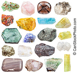 set of various mineral stones: tanzanite, etc - set of...