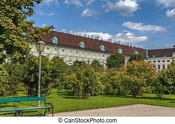 Volksgarten in Vienna, Austria - View from Volksgarten...