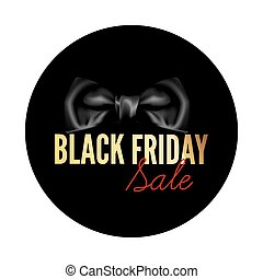 Black Friday sale black round tag
