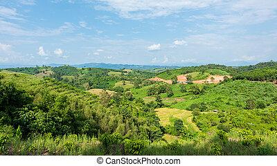 Landscape of National Park in Nan province, Thailand