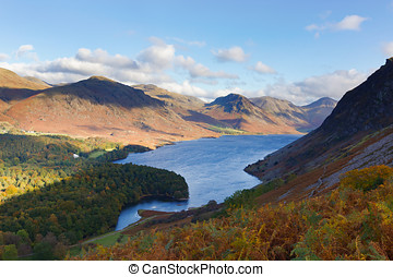 Wast Water in Cumbria, UK - View of Wast Water and...