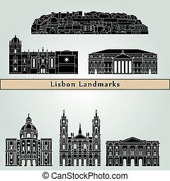 Lisbon V2 Landmarks - Lisbon landmarks and monuments...
