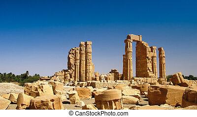 Ruines of Amun temple in Soleb Sudan - Ruines of Amun temple...