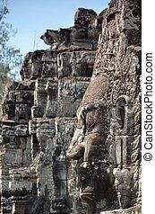 Bayon Temple At Angkor Wat, Cambodia
