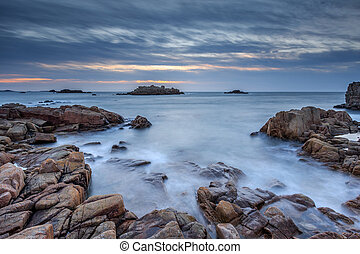 sunset at cobo bay - Sunset at Cobo bay Guernsey, channel...