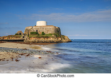 Fort Grey Guernsey - Fort Grey, On Rocquaine Bay, Guernsey,...