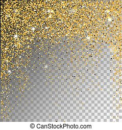 Falling snow on a transparent sparcle background. - Falling...