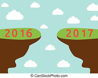 Onset New Year 2017 - Onset 2017 year on blue sky...