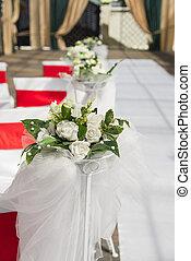 dekoration, bröllop, detaljerna, tält