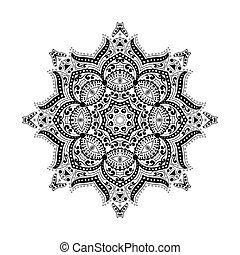 mandala Circular ornament