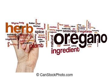 Oregano word cloud concept