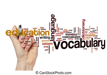 Vocabulary word cloud concept