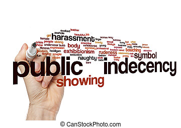 Public indecency word cloud concept - Public indecency word...
