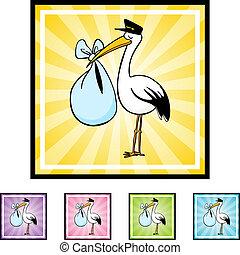 gólya, felszabadítás