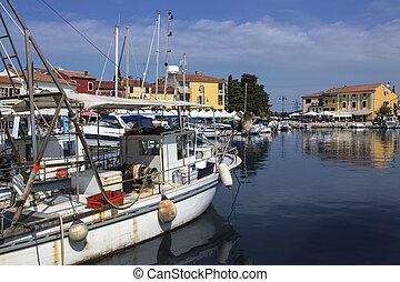 Novigrad - Istria Peninsula - Croatia - The harbor at...
