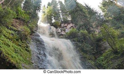 Waterfall Maiden's Tears valley Jets-Oguz. Issyk Kul,...