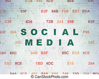 Social media concept: Social Media on Digital Data Paper...