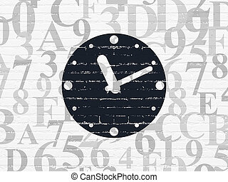 Time concept: Clock on wall background - Time concept:...