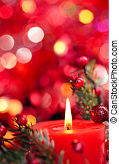 Christmas decoration with candle.