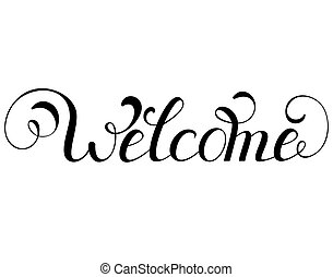 inscription welcome on white background - Vector...