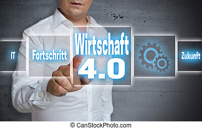 Wirtschaft 4.0 (in german economy, progress, future)...