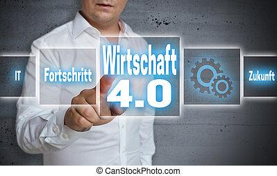 Wirtschaft 4.0 (in german economy, progress, future)...