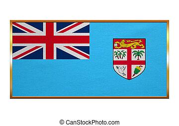 dorato, tessuto, cornice, struttura, bandiera, Figi
