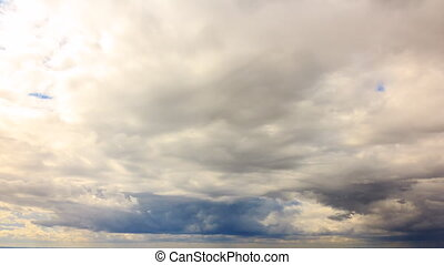 Clouds over the suburbs. Tivoli, Italy. Time Lapse. UltraHD...