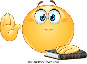 Taking oath emoticon - Emoticon taking oath or swearing....