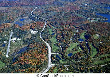 Deerhurst golf course aerial - aerial view of golf course in...