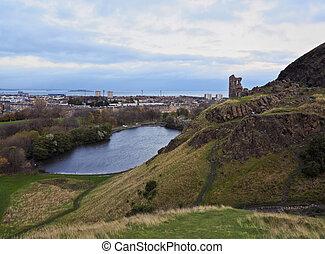 Edinburgh Skyline - UK, Scotland, Lothian, Edinburgh,...