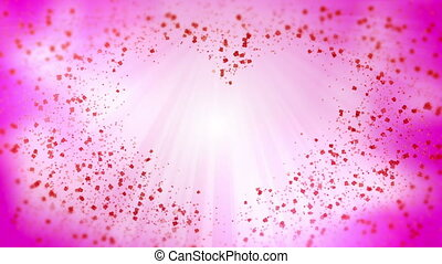 abstract background heart pink