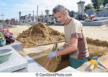 挖掘, 墳墓