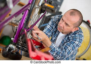 Vélo, mécanicien, fonctionnement