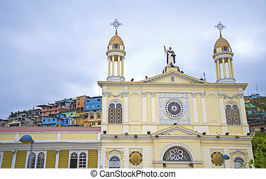 Santo Domingo church facade - Facade of the Santo Domingo...