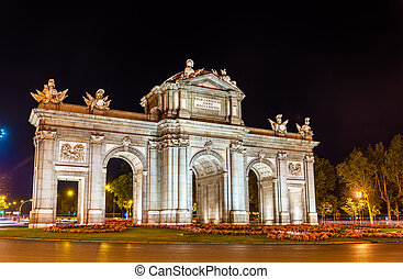 Puerta de Alcala, one of the ancient gates in Madrid, Spain...
