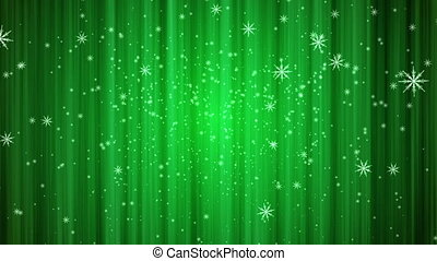 snow curtain background green