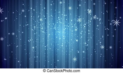 snow curtain background blue