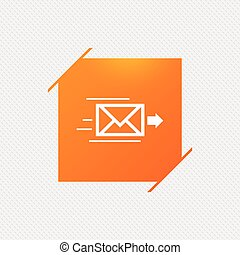 Mail delivery icon. Envelope symbol. Message. - Mail...