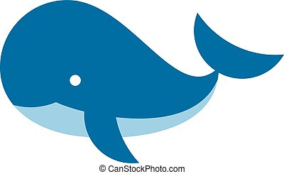 cartoon whale icon isolated on white background - whale icon...