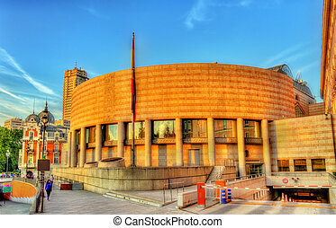The Senate Building in Madrid, Spain - The building of the...