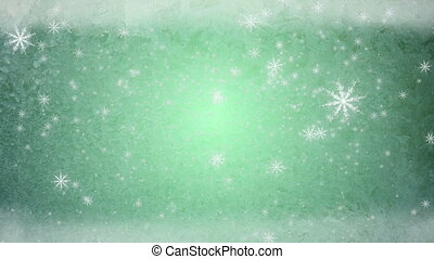 snow fall ice background green